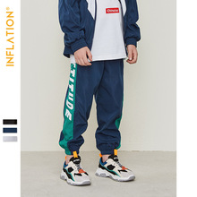 купить INFLATION 2019 Autumn Kids Sweatpants Side Letter Printing Boy Jogger Pants Kids Long Harem Pants Boys Sweatpants SK9563 по цене 1302.14 рублей