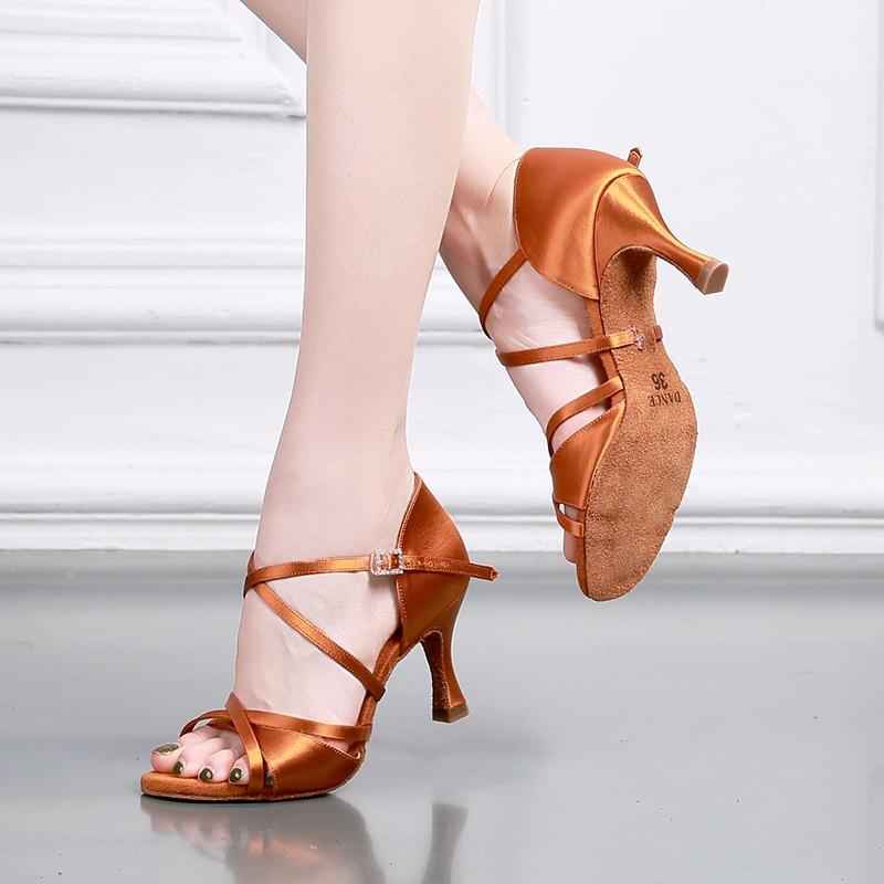 USHINE BD-GD talon 7 cm professionnel de haute qualité top grade diamant boucle chaussures de danse salle de bal chaussures de danse latine femme