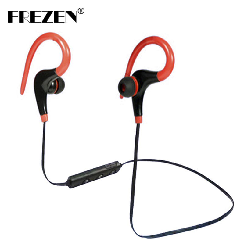 FREZEN Wireless Earphone Stereo Ear Hook Bluetooth4.1 Sport Headphone Headset With Microphone Handsfree For IPhone Huawei Xiaomi boas car driver bluetooth earphone wireless handsfree handphone base charger dock in ear hook headset with mic for iphone xiaomi