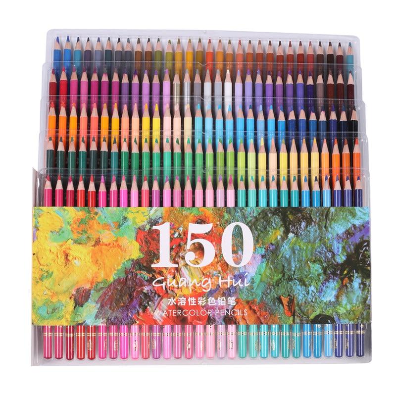 Ccfoud 150 Colors Colored Pencils Set Lapis De Cor Artist Painting Watercolor Pencil For School Sketch Drawing Pens Art Supplies   - title=