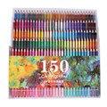 Ccfoud 150 Cores Lápis de Cor Conjunto de Lápis De Cor Da Pintura do Artista Aquarela Canetas Fontes Da Arte de Desenho Esboço do Lápis Para A Escola