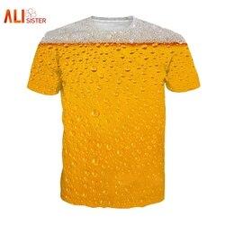 Alisister Bier Druck T Shirt Es der Zeit Brief Frauen Männer Lustige Neuheit T-shirt Kurzarm Tops Unisex Outfit Kleidung dropship