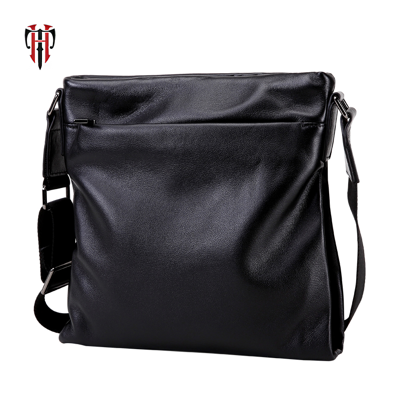 TIANHOO luxury men messenger bag genuine leather shopping bag notebook bundle mans shoulder package
