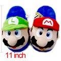 Anime Cartoon Super Mario Bros Mario & Luigi Cosplay Stuffed Plush Toy Shoes Home Winter Slippers Adults Unisex Indoor Slippers
