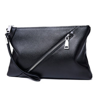 Genuine Leather Business Clutch Bag Men Fashion Handbags for men Phone Pouch male iPad Clutches Purse file holder Wallet Bags
