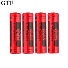 Bateria recarregável gtf 14500 v 3.7 mah, bateria de íon de lítio para led, bateria acumuladora, drop shipping