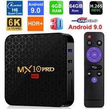 Android 9.0 Smart TV Box MX10 PRO Allwinner H6 Quad Core 4 go de RAM 64 go ROM USB3.0 WIFI 3D 6K résolution H.265 HDR lecteur multimédia