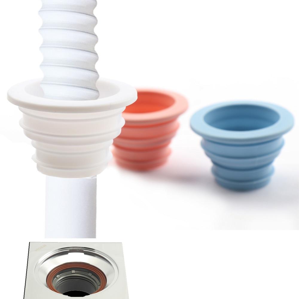 Washing Machine Shaped Sewer Washer Drain Deodorant Ring Seal New