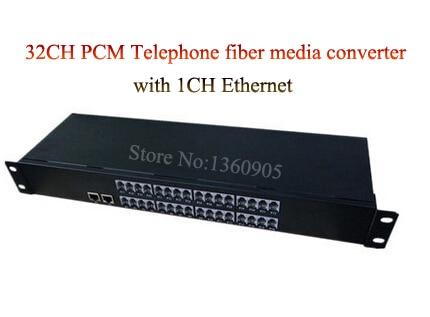 32 Channel PCM Voice Telephone fiber optical media converter + 1CH Ethernet 1U Rack mount -FC, Single mode 20KM 1 pair 4 channel pcm voice telephone fiber optical media converter with 1ch ethernet 1pair fc single mode 20km multi mode 300meters