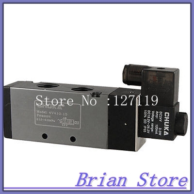 DC 24V 120mA 2 Position 5 Way Pneumatic Solenoid Valve