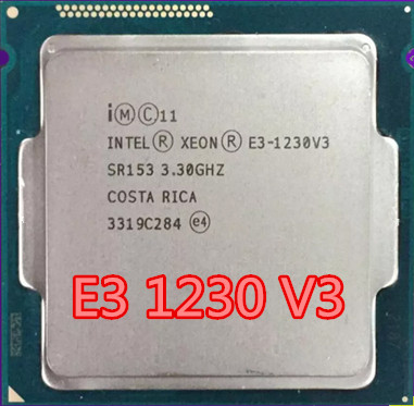 <font><b>Intel</b></font> CPU <font><b>Xeon</b></font> <font><b>E3</b></font> <font><b>1230V3</b></font> Processor 3.30GHz 8M Quad-Core Socket 1150 desktop CPU Processor 8M 80W tdp image