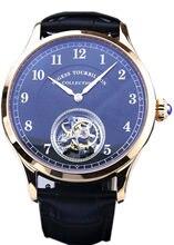 Seagull Tourbillon Mens HandWind Wrist watch Sugess Luxury Business Rose Gold Plated