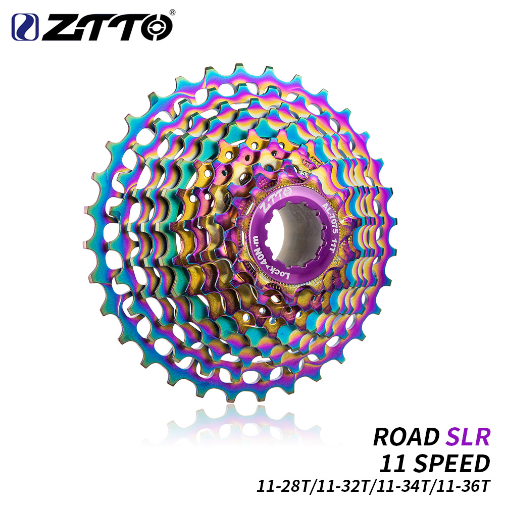 ZTTO MTB 11Speed SLR Colorful Cassette 11-28//32//34//36T Gravel Road Bike Flywheel