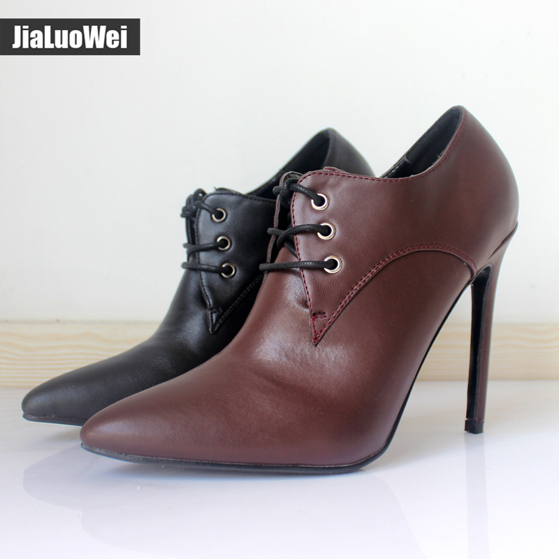 jialuowei patent leather 12cm high heels Sexy women pumps thin heels Classics Lace-Up Pointed Toe woman Party Wedding shoes avvvxbw women pumps sexy patent leather thin heels high heeled shoes woman pointed toe pumps wedding shoes plus size 36 46