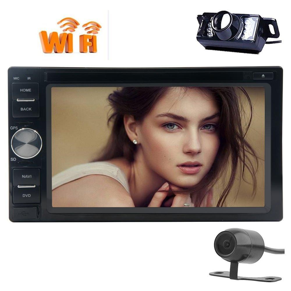 Android 6.0 Car GPS DVD radio tape recorder Autoradio Stereo two 2 Din GPS Navigation Head Unit CAMERA Wifi 1080p supports OBD2