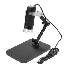 Best price USB2.0 Electronic Microscope Digital Electronic Handheld Magnifier with Bracket LED Magnifying Glass Desk Loupe 50X to 500X