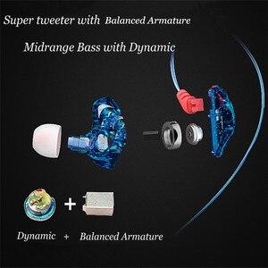 BLON S1 3,5 мм наушники для ушей BA с DD BOSSHiFi S1 сбалансированные арматурные наушники для ушей DIY пользовательские спортивные наушники