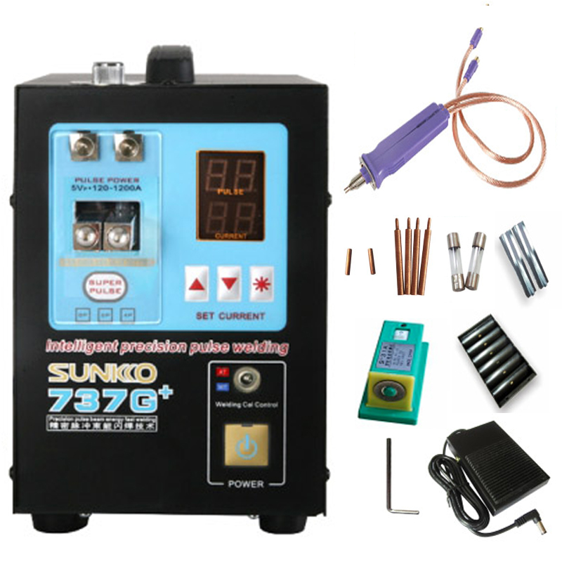 737G Upgraded version 737G Multiple pulses precision Battery Spot welding machine 4 3KW LED Light For