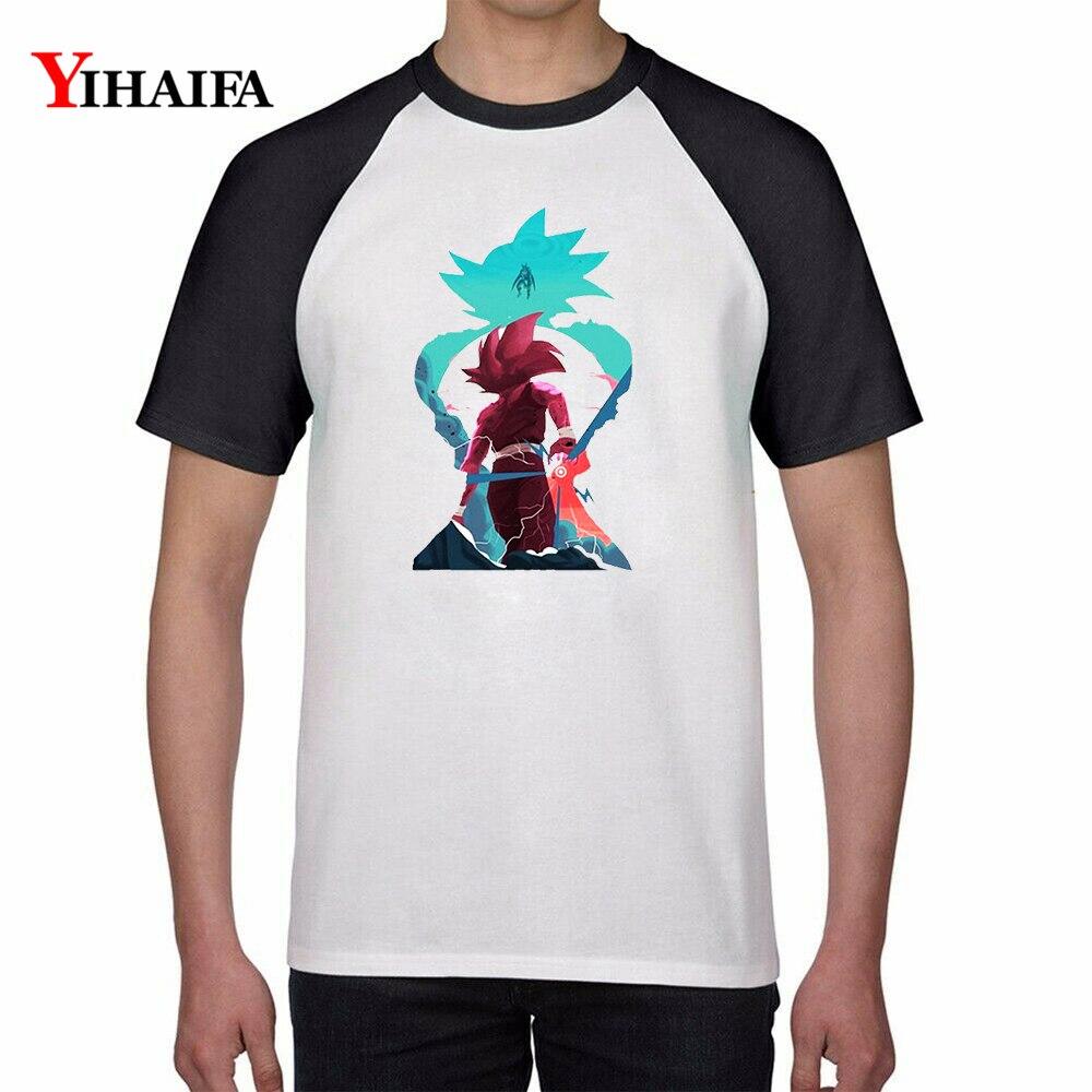 Mens Womens T Shirts Dragon Ball Z Fighting Goku Cartoon 3D Unisex Casual dragon ball t shirt Anime Tee White Tops in T Shirts from Men 39 s Clothing