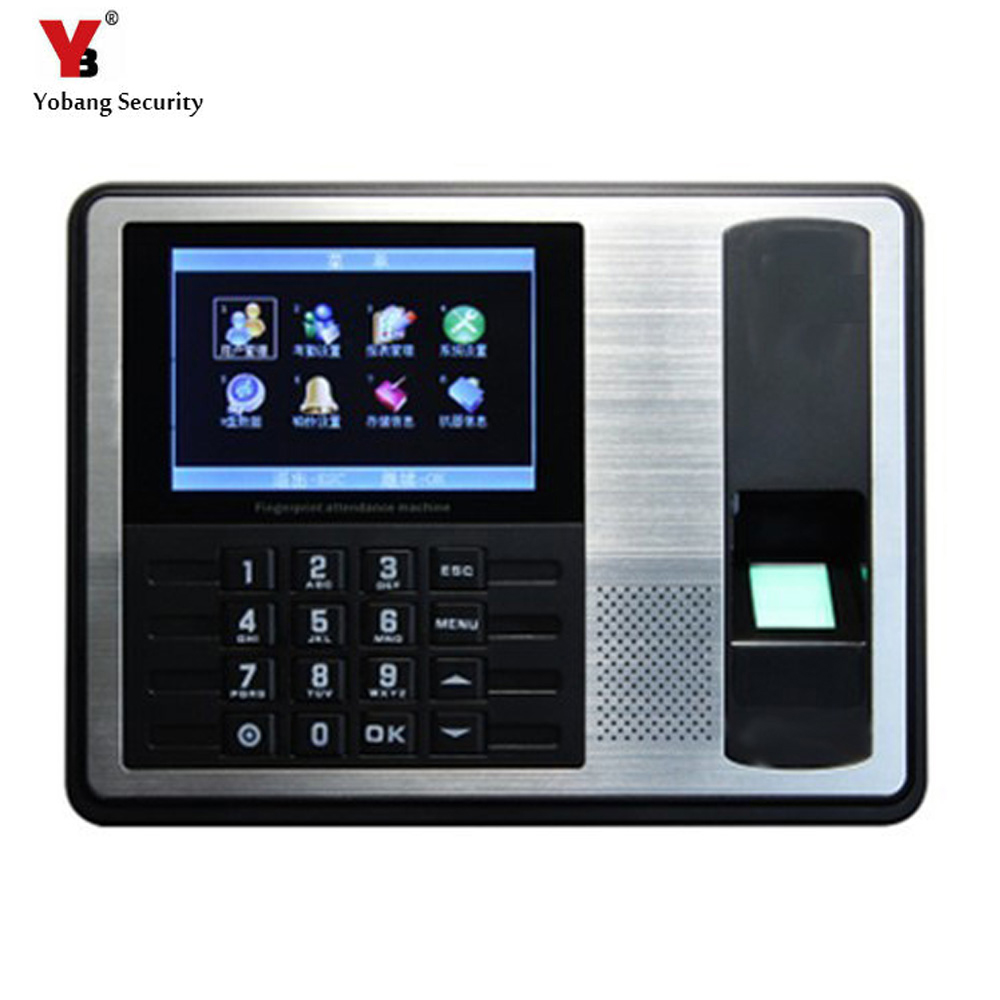 YobangSecurity 4.3 Inch TFT TCP/IP Biometric Fingerprint Time Attendance Clock Recorder Employee Recognition ID Reader SystemYobangSecurity 4.3 Inch TFT TCP/IP Biometric Fingerprint Time Attendance Clock Recorder Employee Recognition ID Reader System