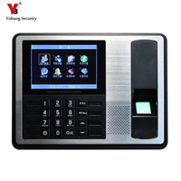 YobangSecurity 4.3 Inch TFT TCP/IP Biometric Fingerprint Time Attendance Clock Recorder Employee Recognition ID Reader System