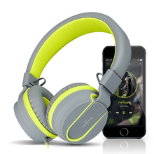 kanen i35 colorful fashion headsets with microphone PC wired hifi bass stereo headphone for cell phone foldable earphone