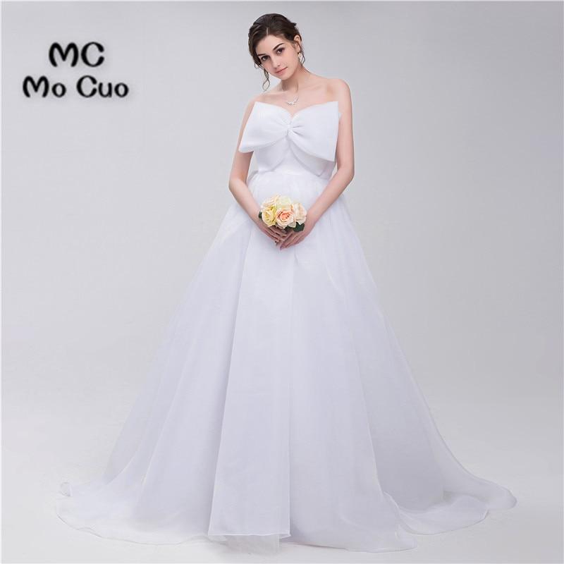 Elegant 2019 Ball Bridal Gowns Sleeveless Robe de mariage Wedding Dresses Organza Lace Up Back vestido de noiva Wedding Dress