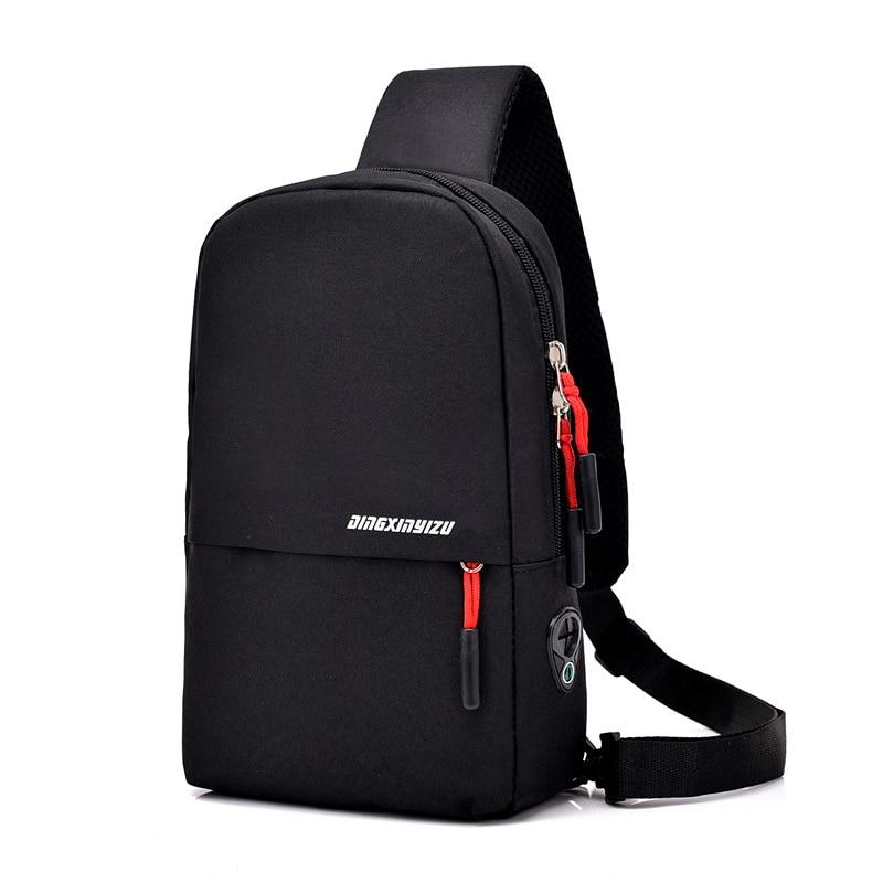 Anti-Thief Men Chest Pack Polyester Zipper Women's Messenger Bags Men Travel Bag Modern Shoulder Bag Unisex Crossbody Sling Bag