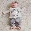 2017 Outono Bebê Conjunto Roupa da menina Roupas Infantis Algodão litte coisa de manga Comprida T-shirt + Pant 2 pcs Roupas Bebê recém-nascido conjuntos