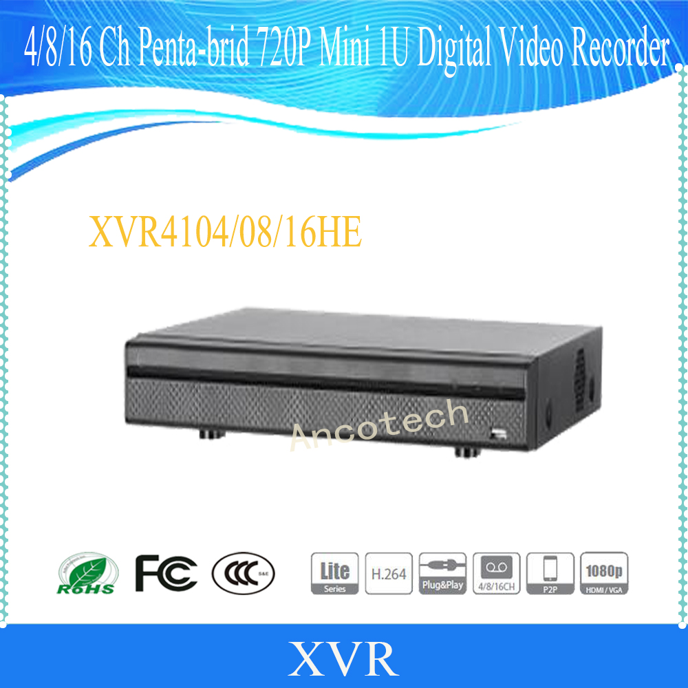 DAHUA NEW Product 4/8/16 Channel Penta-brid 720P Mini 1U Digital Video Recorder Without Logo XVR4104HE/XVR4108HE/XVR4116HE xvr4108c s2 cctv xvr new product 8channel penta brid 720p smart 1u digital video recorder without