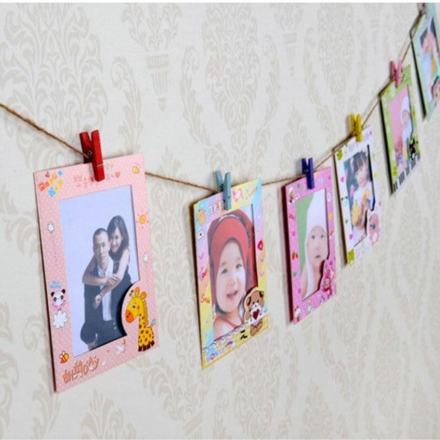 Diy Bingkai Dinding Gambar Foto Untuk Dekorasi Rumah Baru A 6 Inch Dengan 9 Pcs