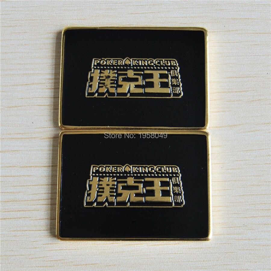 Pressing Metal Poker Cards Guard Protector Token Coin Poker Chip,poker king club bullion bar,30pcs/lot free shipping