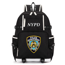 NYPD Printing Backpack Students School Bags Book Bag Women Notebook Backpacks Laptop Bagpack