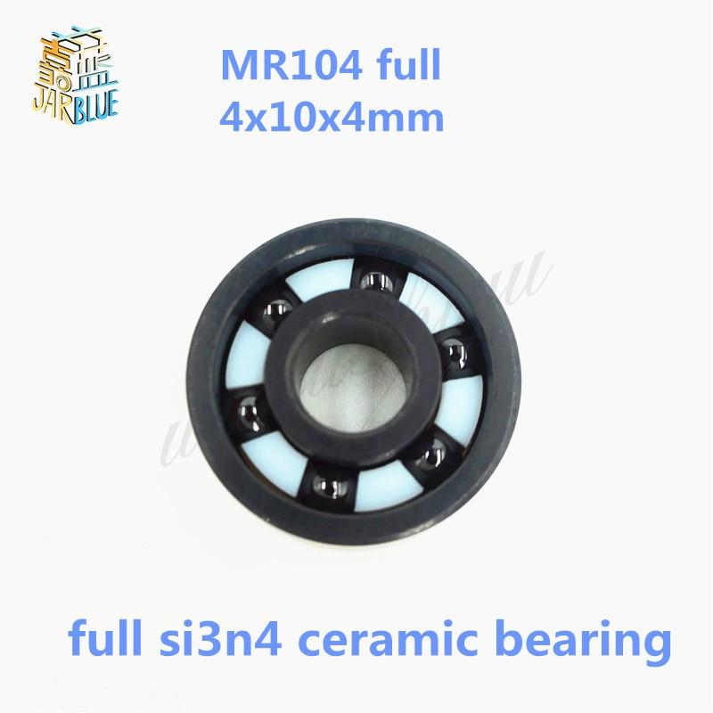 Free shipping high quality MR104 full SI3N4 ceramic deep groove ball bearing 4x10x4mmFree shipping high quality MR104 full SI3N4 ceramic deep groove ball bearing 4x10x4mm