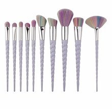 цены 10pcs/set Unicorn Makeup Brushes Set Facial Foundation Contour Cosmetic Eyelash Eye Shadow Eyeliner Lip Brush 5 Color for Choose