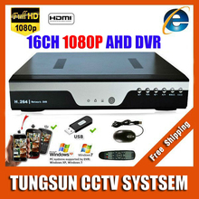 Super 16CH AHD DVR AHD-H HD Full 1080P Video Recorder H.264 CCTV Camera Onvif Network 16 Channel IP NVR Multilanguage