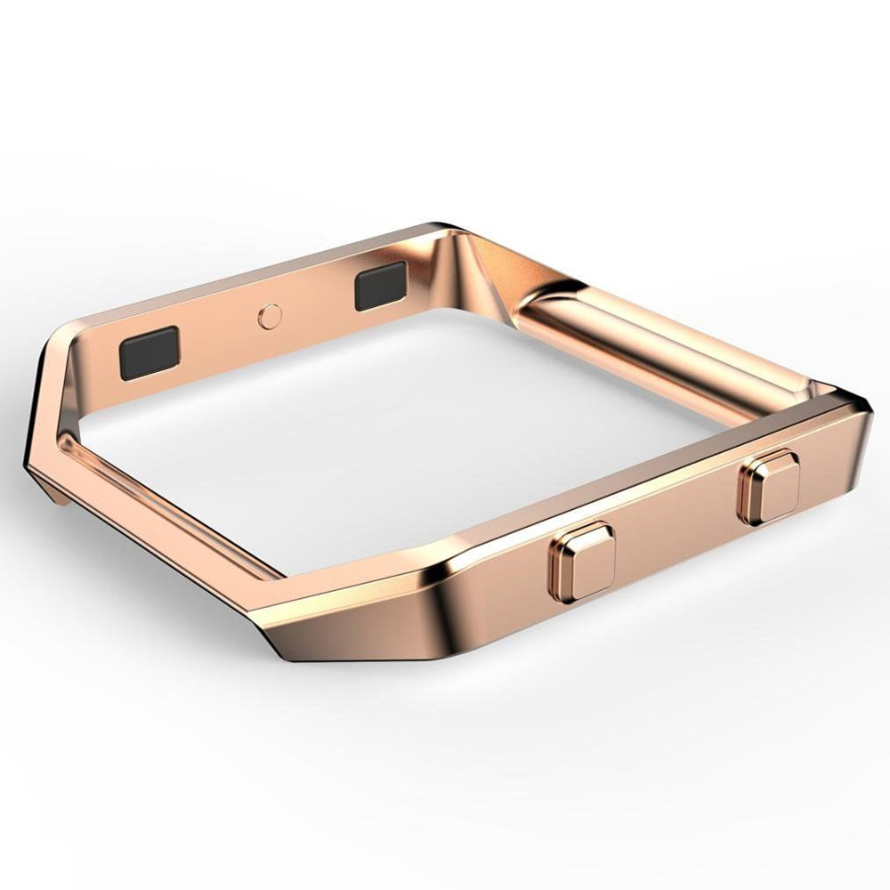 17 Wearable Device Luxury Fashion Stainless Steel Holder Shell Metal Frame For Fitbit Blaze Smart Watch Wristband Accessory 3