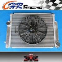 Doble radiador central de aluminio para BMW E36 M3/Z3/325TD/328i/323i/320i/s/c/es de 1992-2000 + Fan