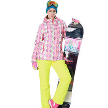 Women Waterproof Ski Suit  Thick Snow Jacket and Pants Windproof Breathable 2.2KG