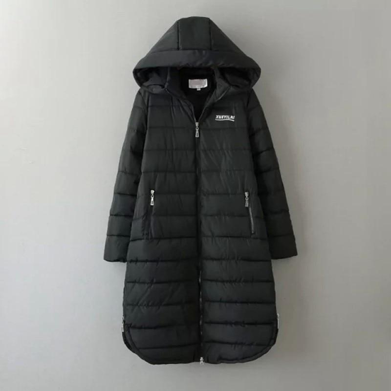 ФОТО 3XL 4XL 5XL Plus Size Women Parkas 2016 Winter Thick Warm Hooded Long Parkas Black Coats Outerwear women clothing NN07