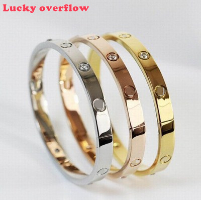Luckyoverflow Lovers Bracelets Woman Bracelets Stainless Steel Bangles And Bangle Gold Woman Jewelry Gifts CE0974/11