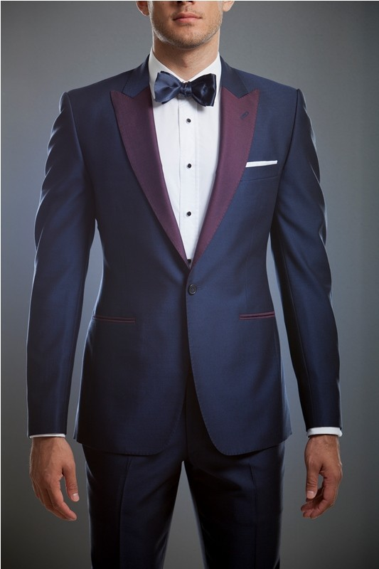 Tailored Made Men Suits Navy Blue Wedding Suits For Man Slim Fit ...