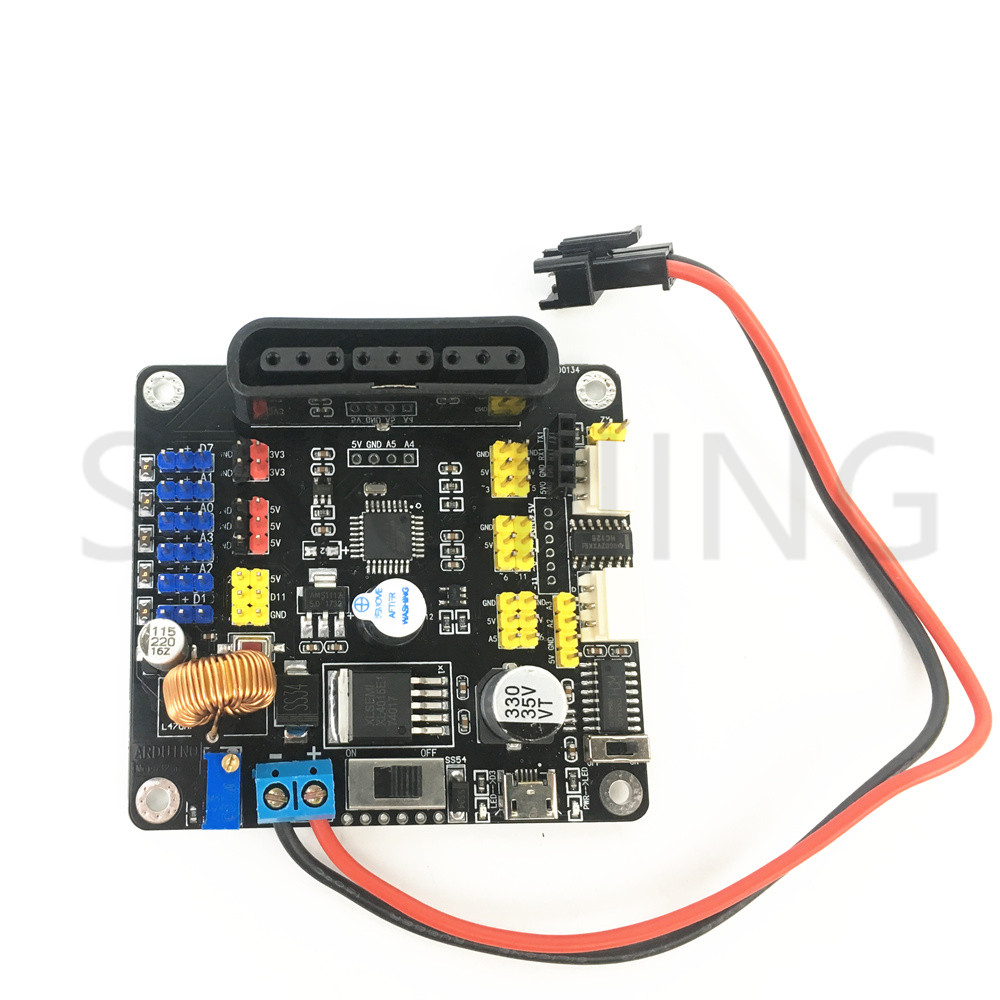 Arduino uno shield for 6 dof robot arm microcontroller ps2 with code 6 dof robotic arm model motor servo cnc all metal robot arm structure servos industrial robot diy rc toy uno