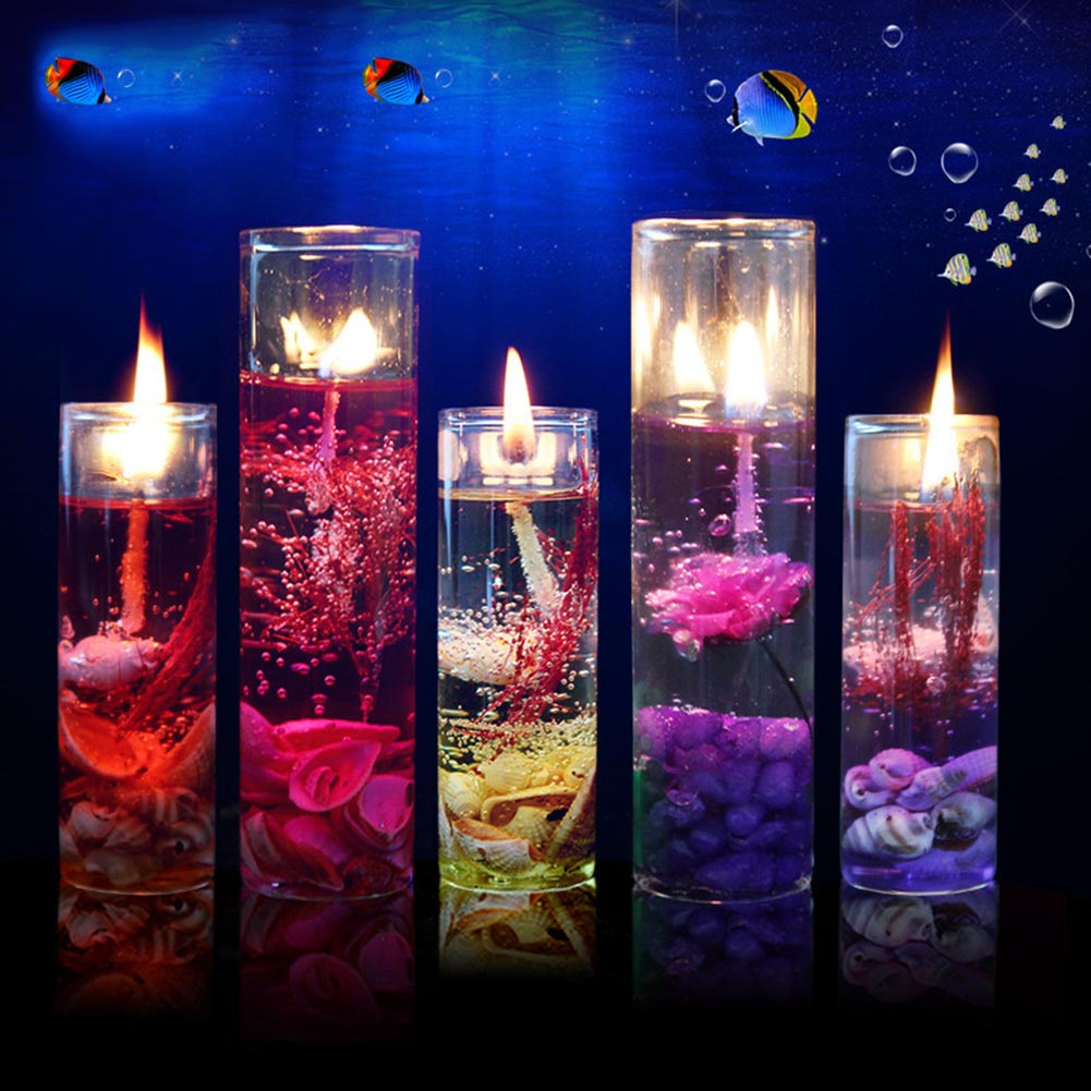 Romantic Aromatherapy Sea Jelly Glass Cup Gel Wax Candles for Wedding, Valentine's day