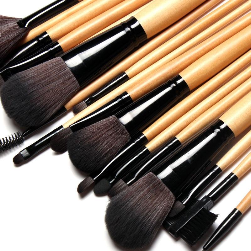 Pro Kit De Pincel 18PCS wood&black Color Makeup blush Brushes Stoke Natural Wool Hair Cosmetic Brush Set maquiagem kit