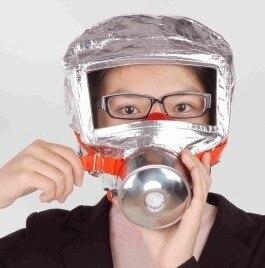 Пожарная лестница маска чрезвычайных капот кислорода противогазы Респираторы 30 мин. дыма токсичен фильтр противогаз с упаковочная коробка...