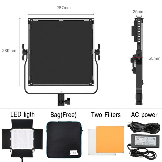 PixeL K90S 2.4G Wireless Control LCD Lighting Bi-Color 3200K-5600K Studio LED Light & Dimmable Adjustable Luminance for DSLR
