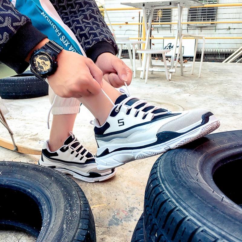 Estudantes Sapatos Super Selvagens Versão Masculinos De Coreana 2019 Ins Esportivos Do Plataforma Fogo Panda Calçados Primavera aOpwTT4q