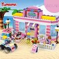 500 pcs Série Bela Amigos restaurante de Praia Andrea mini-boneca de Brinquedo de Blocos de Construção Compatíveis com Brinquedos Amigos Tijolo Menina brinquedos
