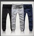 El envío libre 2017 Nueva Marca de Los Hombres Largos Pantalones Coreanos Pantalones Harem Fresco Ropa de Moda Slim Fit Pantalones Más El Tamaño